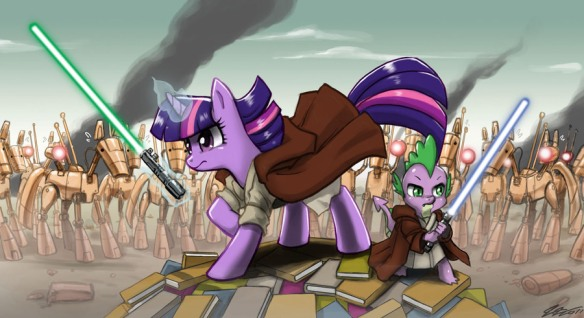 Twilight_Sparkle_and_Spike_in_Star_War_by_artist-johnjoseco